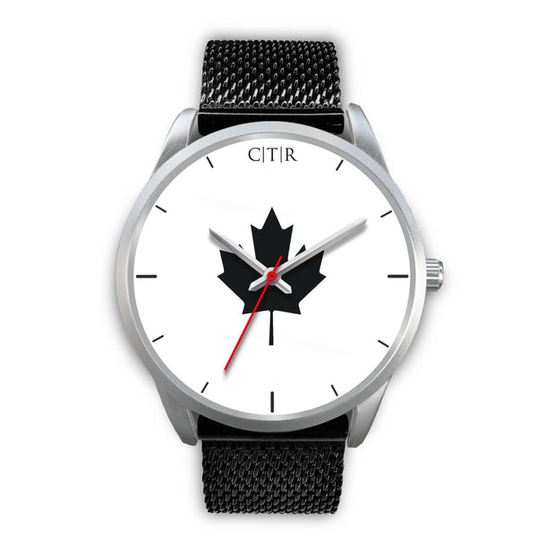 Canada Watch - Simple Silver Silver Watch wc-fulfillment Mens 40mm Black Metal Mesh Country Flag Socks, State Socks, Flag Socks, Patriotic Socks, Patriotic Products, Country Watches