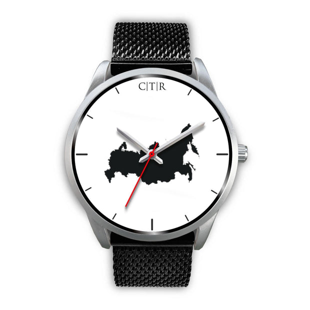 wc-fulfillment Silver Watch Mens 40mm / Black Metal Mesh Russia - Simple Silver