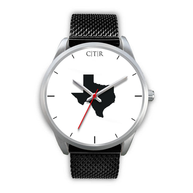 wc-fulfillment Silver Watch Mens 40mm / Black Metal Mesh Texas - Simple Silver