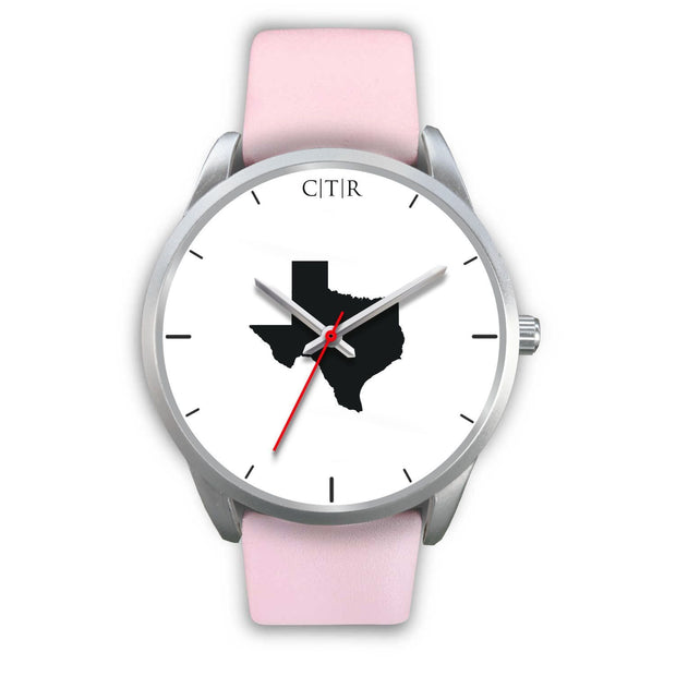 wc-fulfillment Silver Watch Mens 40mm / Pink Leather Texas - Simple Silver