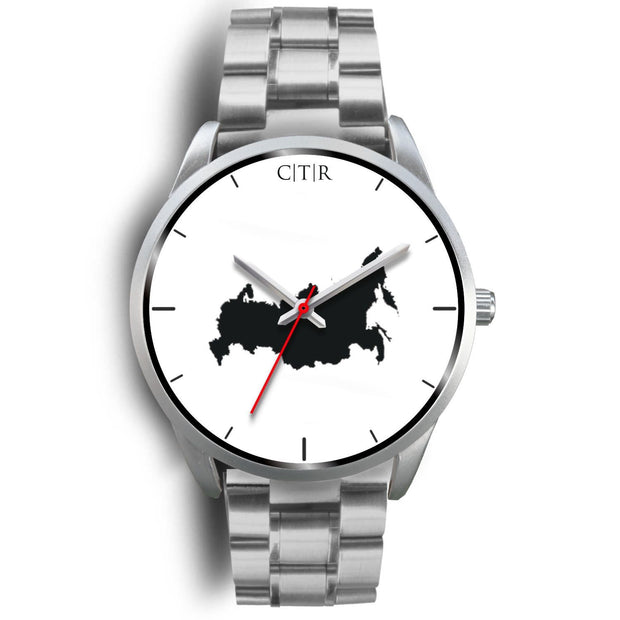 wc-fulfillment Silver Watch Mens 40mm / Silver Metal Link Russia - Simple Silver