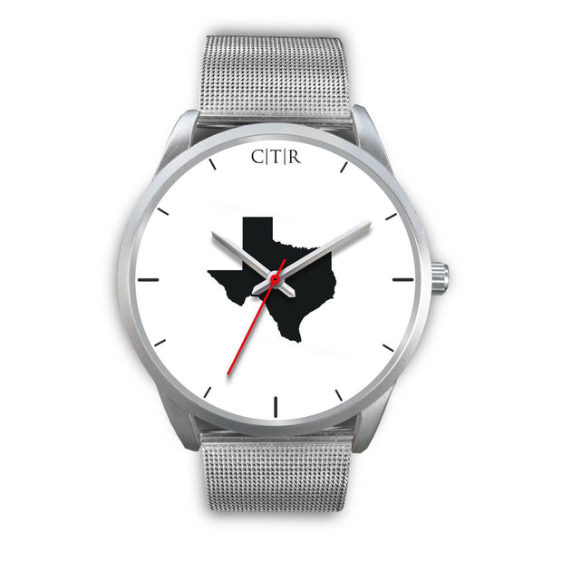 wc-fulfillment Silver Watch Mens 40mm / Silver Metal Mesh Texas - Simple Silver