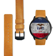 Iowa Flag Watch Watch wc-fulfillment Country Flag Socks, State Socks, Flag Socks, Patriotic Socks, Patriotic Products, Country Watches