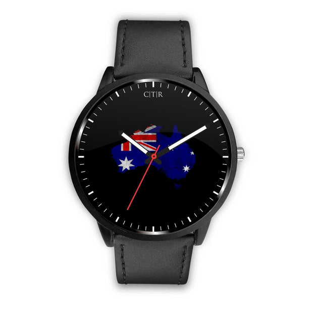 Australia Flag Watch Watch wc-fulfillment Mens 40mm Black Country Flag Socks, State Socks, Flag Socks, Patriotic Socks, Patriotic Products, Country Watches