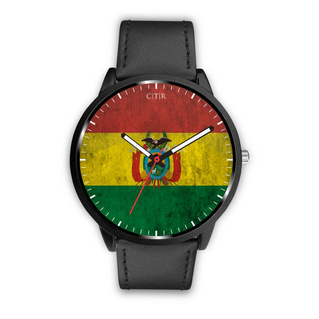 Bolivia Flag Watch Watch wc-fulfillment Mens 40mm Black Country Flag Socks, State Socks, Flag Socks, Patriotic Socks, Patriotic Products, Country Watches