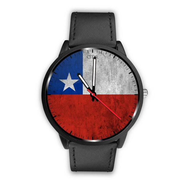 Chile Flag Watch Watch wc-fulfillment Mens 40mm Black Country Flag Socks, State Socks, Flag Socks, Patriotic Socks, Patriotic Products, Country Watches