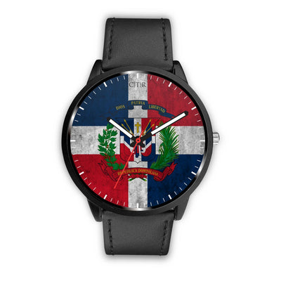 Dominican Republic Flag Watch Watch wc-fulfillment Mens 40mm Black Country Flag Socks, State Socks, Flag Socks, Patriotic Socks, Patriotic Products, Country Watches