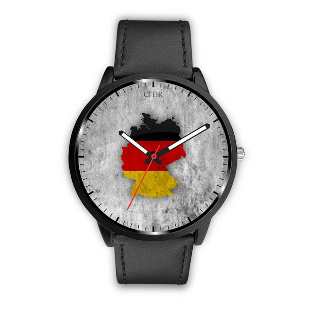 Germany Flag Watch Watch wc-fulfillment Mens 40mm Black Country Flag Socks, State Socks, Flag Socks, Patriotic Socks, Patriotic Products, Country Watches