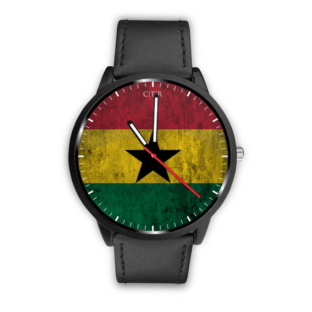 Ghana Flag Watch Watch wc-fulfillment Mens 40mm Black Country Flag Socks, State Socks, Flag Socks, Patriotic Socks, Patriotic Products, Country Watches