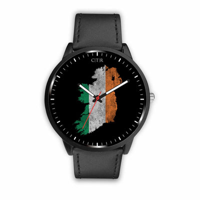 Ireland Flag Watch Watch wc-fulfillment Mens 40mm Black Country Flag Socks, State Socks, Flag Socks, Patriotic Socks, Patriotic Products, Country Watches