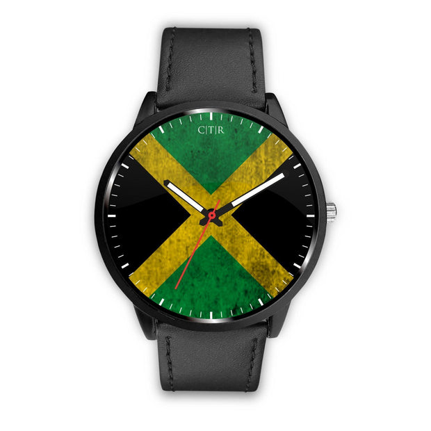 Jamaica - Flag Watch Watch wc-fulfillment Mens 40mm Black Country Flag Socks, State Socks, Flag Socks, Patriotic Socks, Patriotic Products, Country Watches