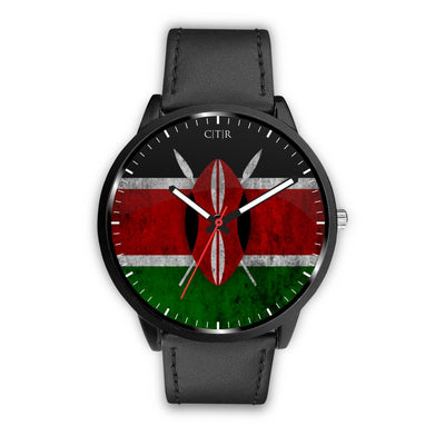 Kenya - Flag Watch Watch wc-fulfillment Mens 40mm Black Country Flag Socks, State Socks, Flag Socks, Patriotic Socks, Patriotic Products, Country Watches