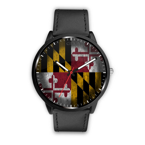 Maryland - Flag Watch Watch wc-fulfillment Mens 40mm Black Country Flag Socks, State Socks, Flag Socks, Patriotic Socks, Patriotic Products, Country Watches