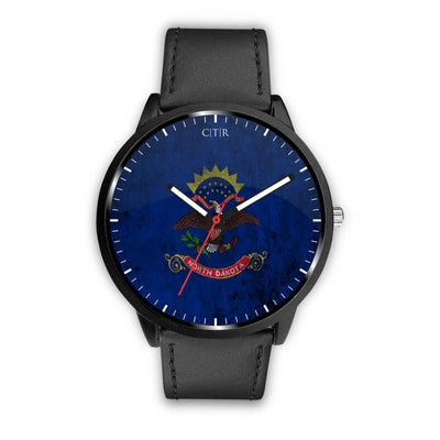 wc-fulfillment Watch Mens 40mm / Black North Dakota - Flag Watch