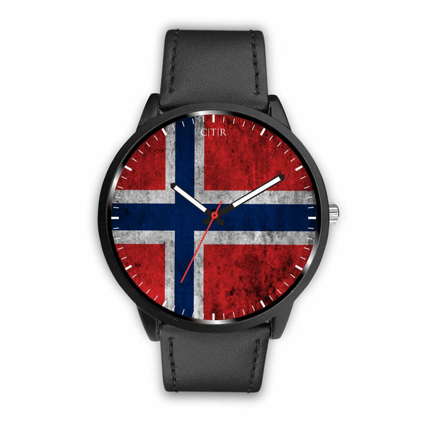 wc-fulfillment Watch Mens 40mm / Black Norway - Flag Watch