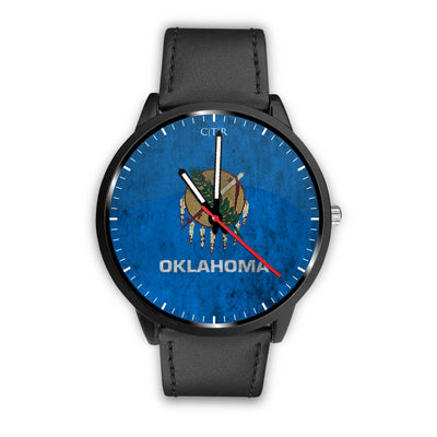 wc-fulfillment Watch Mens 40mm / Black Oklahoma - Flag Watch