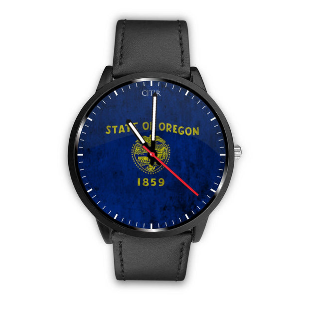 wc-fulfillment Watch Mens 40mm / Black Oregon - Flag Watch