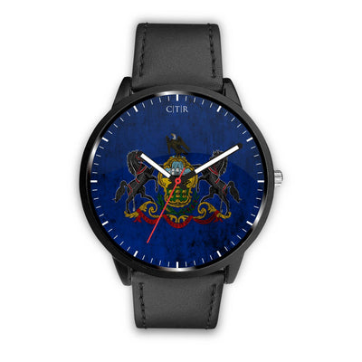 wc-fulfillment Watch Mens 40mm / Black Pennsylvania - Flag Watch