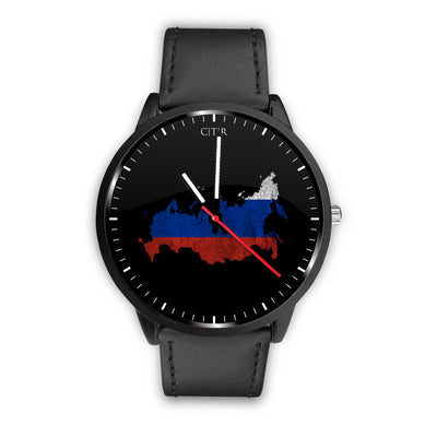 wc-fulfillment Watch Mens 40mm / Black Russia - Flag Watch