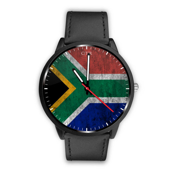 wc-fulfillment Watch Mens 40mm / Black South Africa - Flag Watch