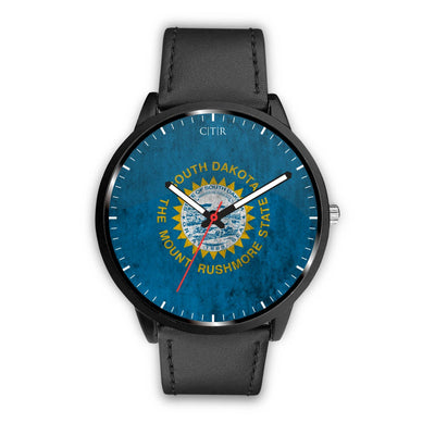 wc-fulfillment Watch Mens 40mm / Black South Dakota - Flag Watch