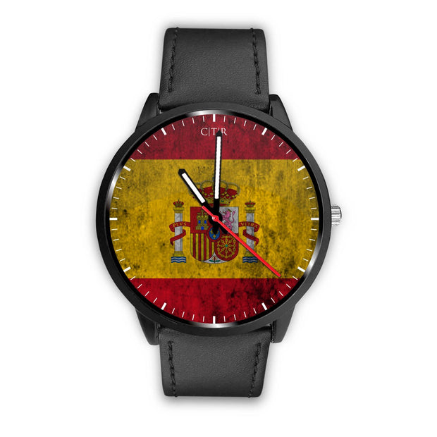 wc-fulfillment Watch Mens 40mm / Black Spain - Flag Watch