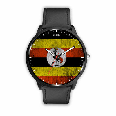 wc-fulfillment Watch Mens 40mm / Black Uganda - Flag Watch