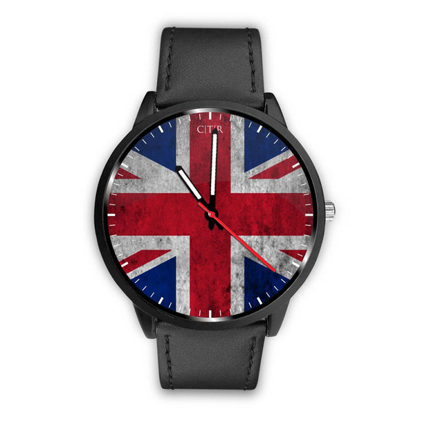 wc-fulfillment Watch Mens 40mm / Black United Kingdom - Flag Watch