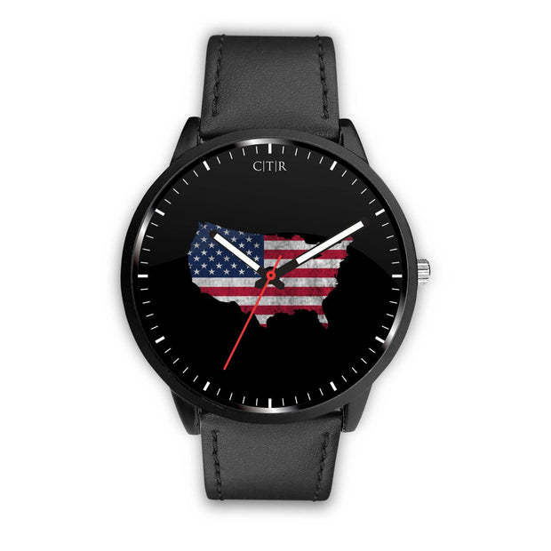 wc-fulfillment Watch Mens 40mm / Black United States - Flag Watch