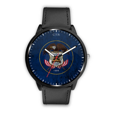 wc-fulfillment Watch Mens 40mm / Black Utah - Flag Watch