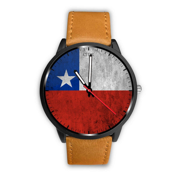 Chile Flag Watch Watch wc-fulfillment Mens 40mm Brown Country Flag Socks, State Socks, Flag Socks, Patriotic Socks, Patriotic Products, Country Watches