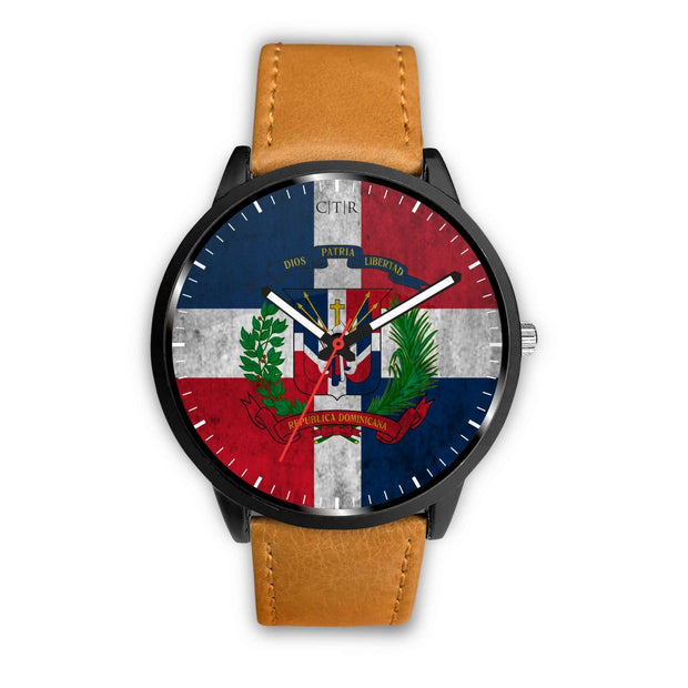 Dominican Republic Flag Watch Watch wc-fulfillment Mens 40mm Brown Country Flag Socks, State Socks, Flag Socks, Patriotic Socks, Patriotic Products, Country Watches