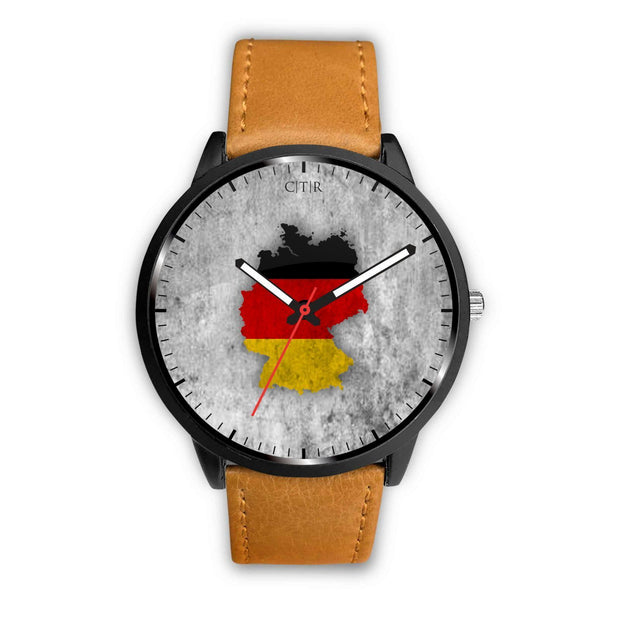 Germany Flag Watch Watch wc-fulfillment Mens 40mm Brown Country Flag Socks, State Socks, Flag Socks, Patriotic Socks, Patriotic Products, Country Watches