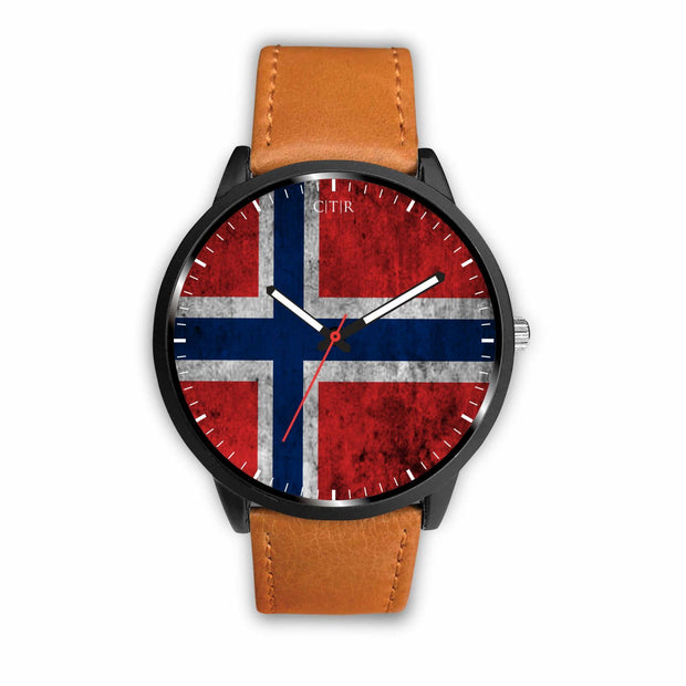 wc-fulfillment Watch Mens 40mm / Brown Norway - Flag Watch