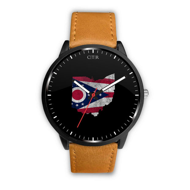 wc-fulfillment Watch Mens 40mm / Brown Ohio - Flag Watch