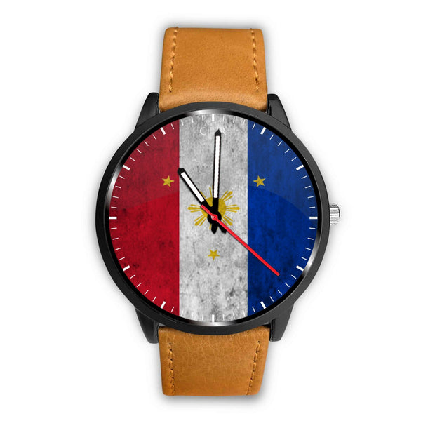 wc-fulfillment Watch Mens 40mm / Brown Philippines - Flag Watch
