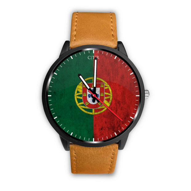 wc-fulfillment Watch Mens 40mm / Brown Portugal - Flag Watch