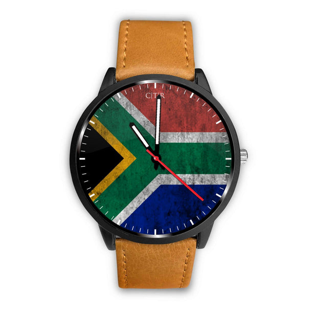 wc-fulfillment Watch Mens 40mm / Brown South Africa - Flag Watch