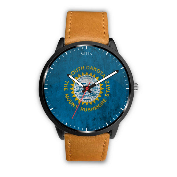 wc-fulfillment Watch Mens 40mm / Brown South Dakota - Flag Watch