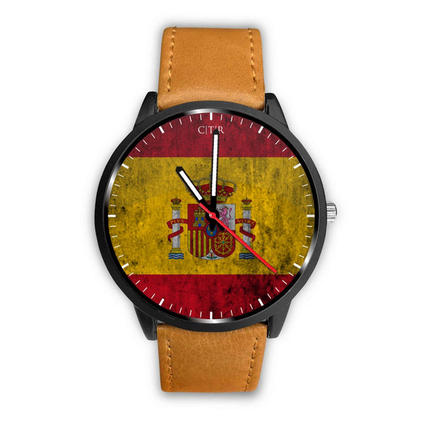 wc-fulfillment Watch Mens 40mm / Brown Spain - Flag Watch