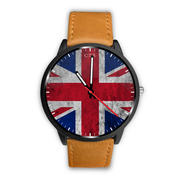 wc-fulfillment Watch Mens 40mm / Brown United Kingdom - Flag Watch