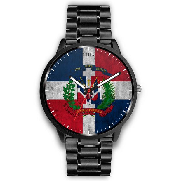 Dominican Republic Flag Watch Watch wc-fulfillment Mens 40mm Metal Link Country Flag Socks, State Socks, Flag Socks, Patriotic Socks, Patriotic Products, Country Watches
