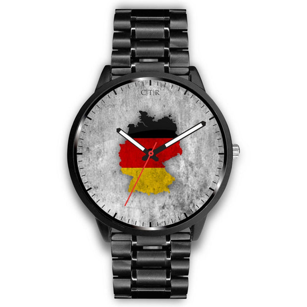 Germany Flag Watch Watch wc-fulfillment Mens 40mm Metal Link Country Flag Socks, State Socks, Flag Socks, Patriotic Socks, Patriotic Products, Country Watches