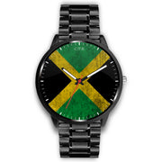 Jamaica - Flag Watch Watch wc-fulfillment Mens 40mm Metal Link Country Flag Socks, State Socks, Flag Socks, Patriotic Socks, Patriotic Products, Country Watches