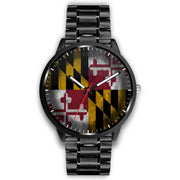 Maryland - Flag Watch Watch wc-fulfillment Mens 40mm Metal Link Country Flag Socks, State Socks, Flag Socks, Patriotic Socks, Patriotic Products, Country Watches