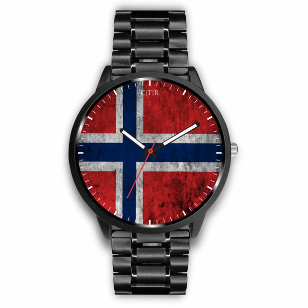 wc-fulfillment Watch Mens 40mm / Metal Link Norway - Flag Watch