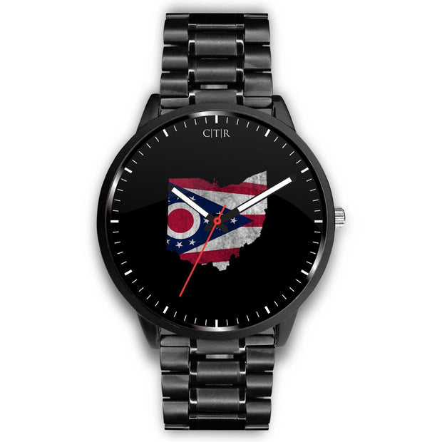 wc-fulfillment Watch Mens 40mm / Metal Link Ohio - Flag Watch