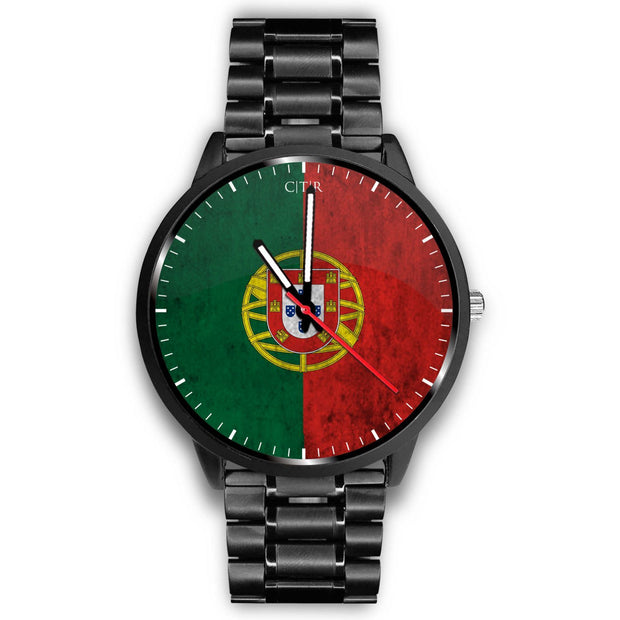 wc-fulfillment Watch Mens 40mm / Metal Link Portugal - Flag Watch