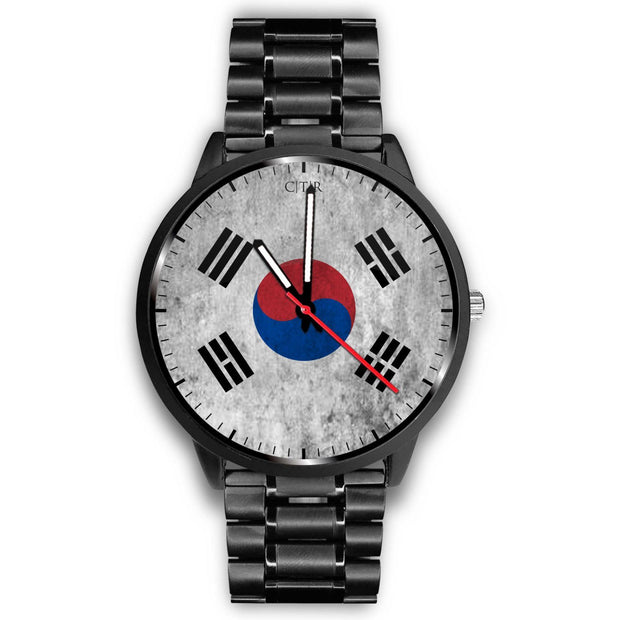 wc-fulfillment Watch Mens 40mm / Metal Link South Korea - Flag Watch