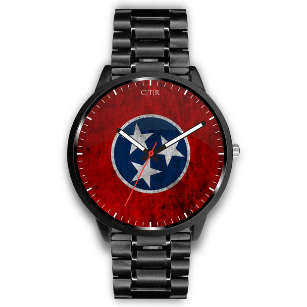 wc-fulfillment Watch Mens 40mm / Metal Link Tennessee - Flag Watch